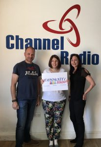 Russell, Caroline and Laura in the Channel Radio Studio