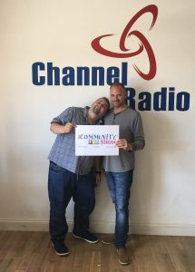 Studio guest Phill Thorne with Russell Burton-Lawrence