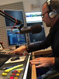 Russell Burton-Lawrence in control at Channel Radio