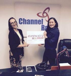 Victoria Wilsher & Laura Burton-Lawrence in the Channel Radio Studio