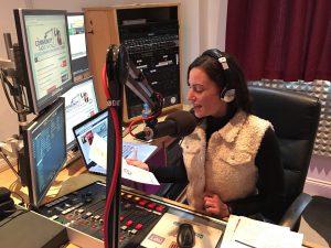 Laura Burton-Lawrence presenting The Community Radio Show