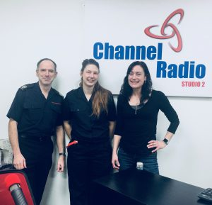 L-R Keith Pascoe, Paige James and Laura Lawrence
